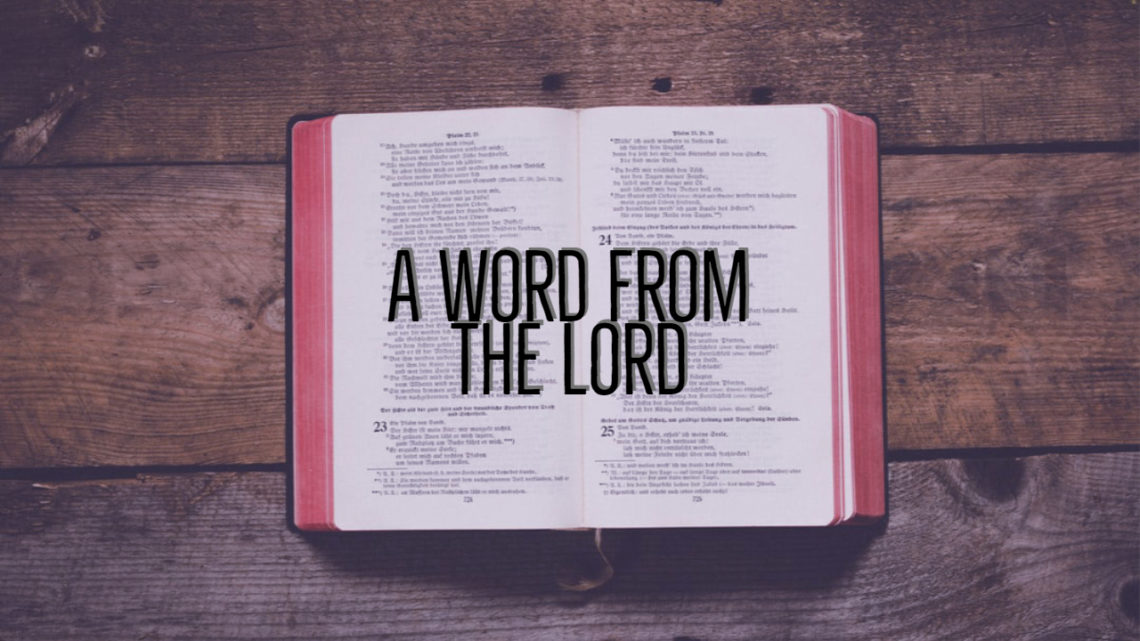A Word From The Lord
